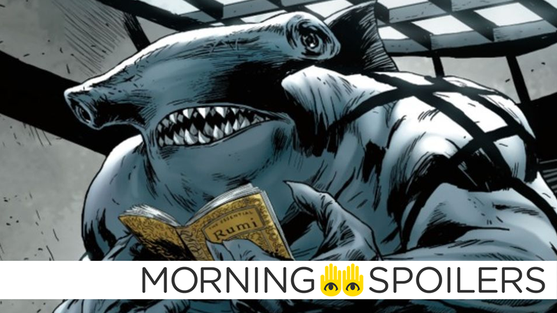 King Shark gets some reading in.