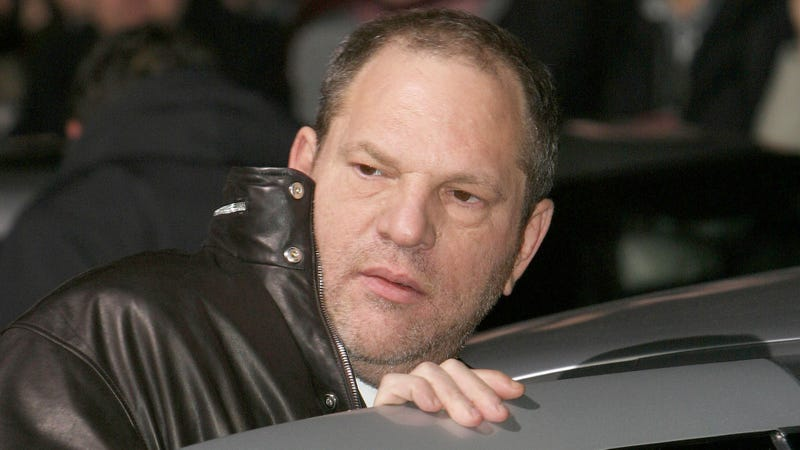Harvey Weinstein, getting into a car at the London premiere of The Aviator