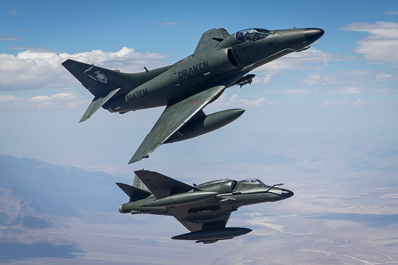 Illustration for article titled Draken's A-4K Skyhawks Provide Private Aggressor Duties At Nellis Air Force Base