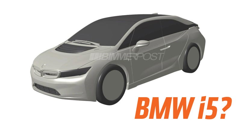 Illustration for article titled These Patent Images Seem To Show The Look Of The Upcoming BMW i5 Sedan