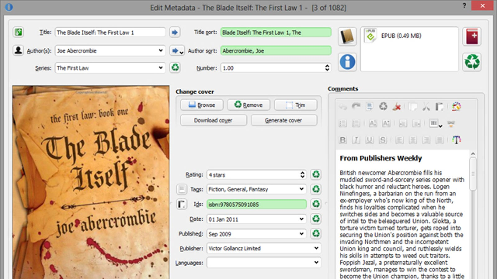 Automatically Download Metadata for Your Ebooks with Calibre