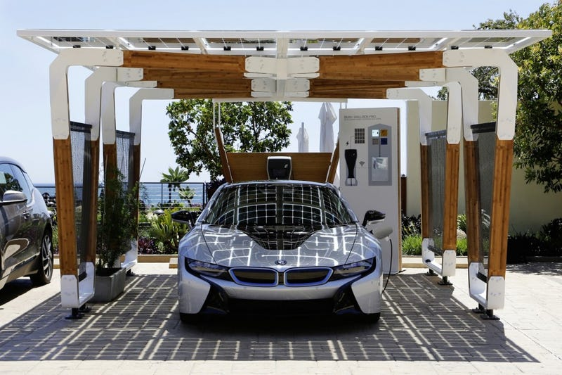 Illustration for article titled One Day You Might Park Up in a Beautiful Solar Charging Carport