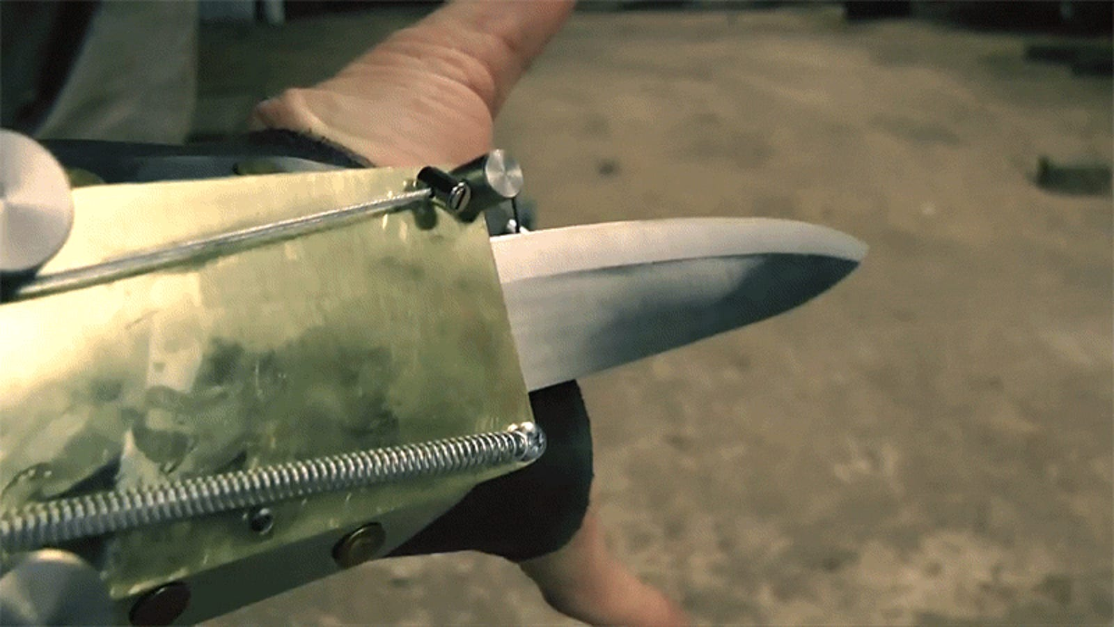 This real life version of the hidden blade and rope launcher in Assassin's Creed is awesome