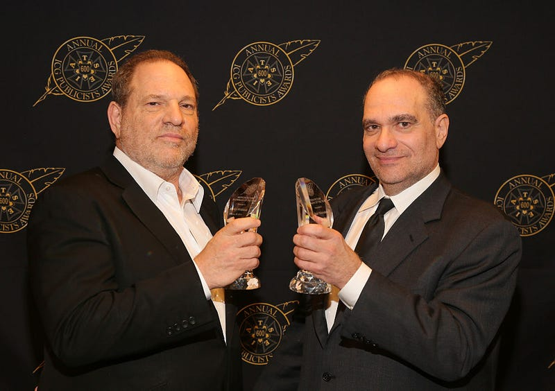 Harvey and Bob Weinstein (Photo: Mathew Imaging/WireImage)