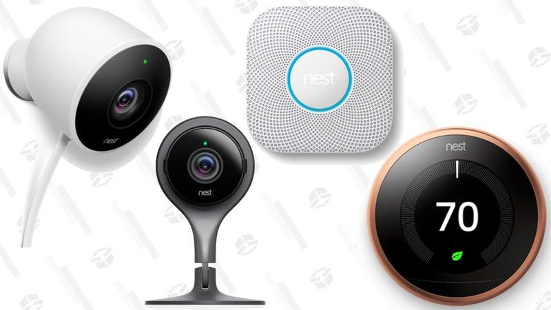 Nest 3rd Gen Learning Thermostat | $179 | Walmart Nest Thermostat E | $139 | WalmartNest Protect 2nd Gen Smoke + CO Alarm | $99 | Walmart | Battery or WiredNest Cam Indoor Security Camera | $129 | WalmartNest Cam Outdoor Security Camera | $149 | Walmart