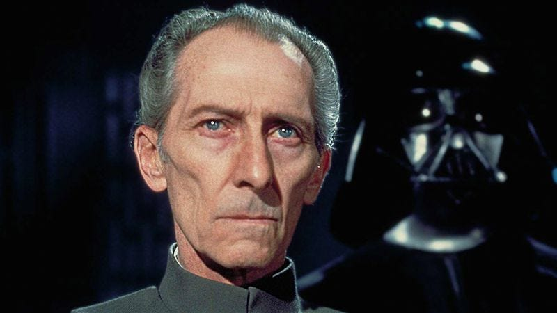 Illustration for article titled A CGI Peter Cushing could (but probably won't) appear in Star Wars: Rogue One