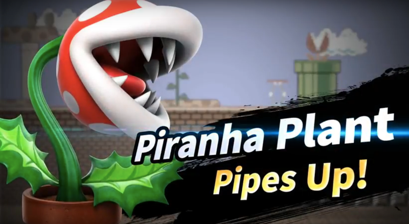 Illustration for article titled Smash Bros. Ultimate's First Post-Launch Fighter Will Be, Uh, Piranha Plant