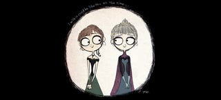Illustration for article titled What Frozen would have looked like if Tim Burton made it