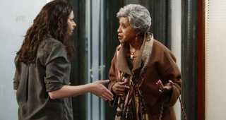 Katie Lowes as Quinn Perkins and Marla Gibbs as Rose in a scene from ScandalNicole Wilder ABC