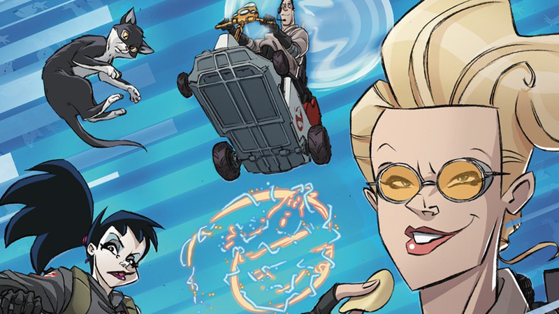 Image: IDW. Ghostbusters: Crossing Over #1 Variant art by Dan Schoening.