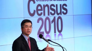 Then-U.S. Secretary of Commerce Gary Locke discussing the first results of the 2010 CensusWin McNamee/Getty Images