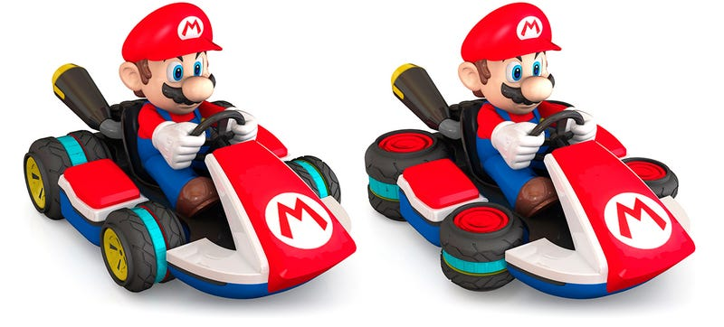 Illustration for article titled An RC Mario Kart With Wheels That Actually Convert To Hover Mode