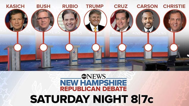 How to Stream Tonight's ABC News Republican Debate, No Cable Required