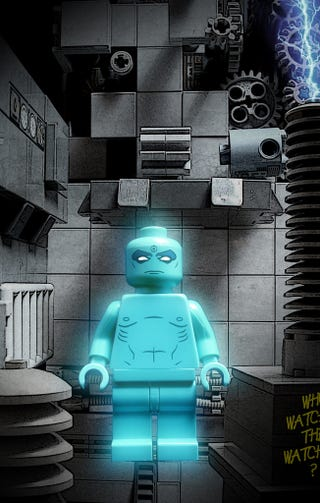 Illustration for article titled Lego Dr. Manhattan Reminds Us To Be Excited About Watchmen