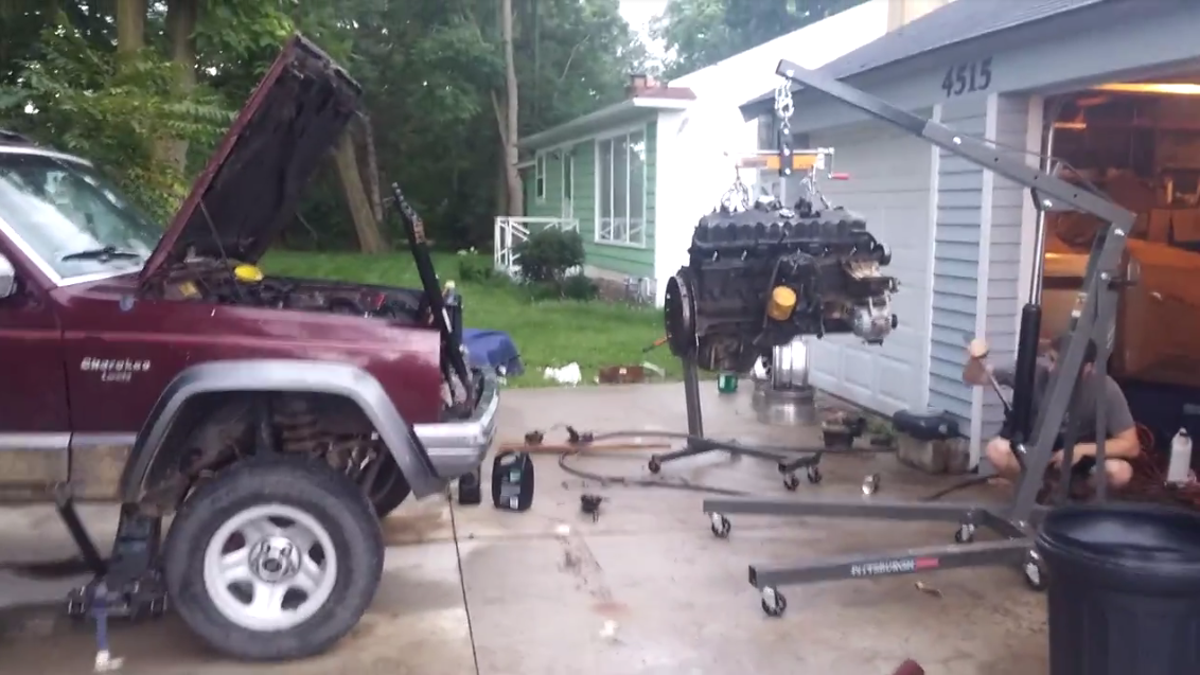 Heres What Happened When I Put A 120 Craigslist Engine Into My Jeep 1998 Cherokee Transmission Wiring Plug