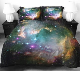 Illustration for article titled Beautiful Space-Themed Bedding Sets for Astonomy Lovers