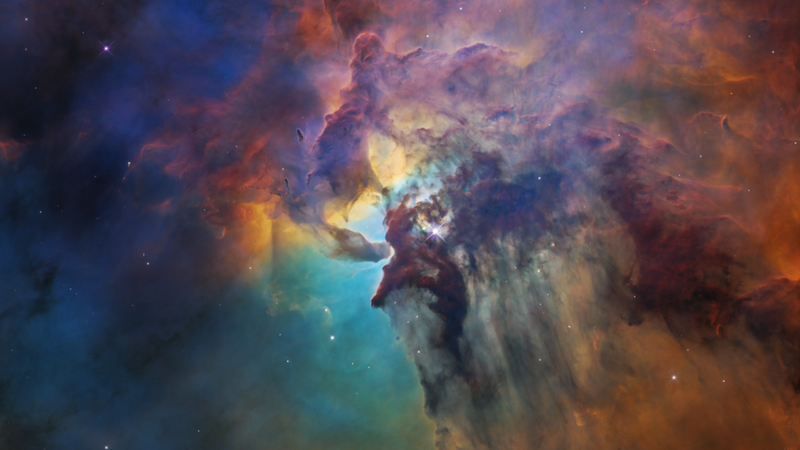 Pretty view of the Lagoon Nebula.