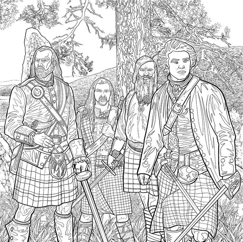 El libro de colorear Outlander es una cosa real que existe