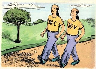 Illustration for article titled The Origin of the Twin Copy-Paste T-Shirts