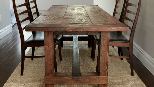 Build A Farmhouse Dinner Table That S Tough To Screw Up