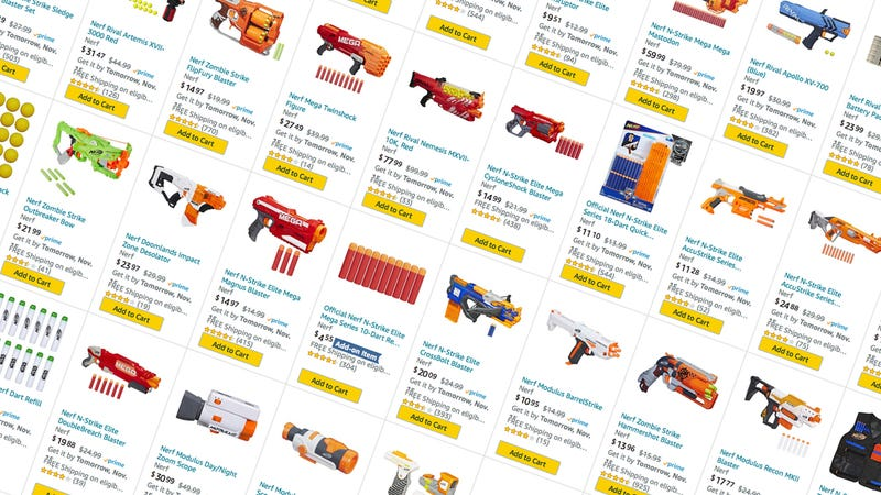BOGO 50% off Nerf Guns and Accessories