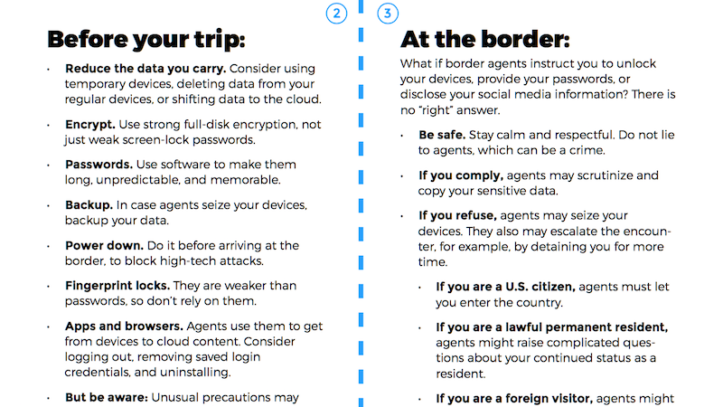 Print Out the EFF's Border Search Pocket Guide Before You Travel Internationally