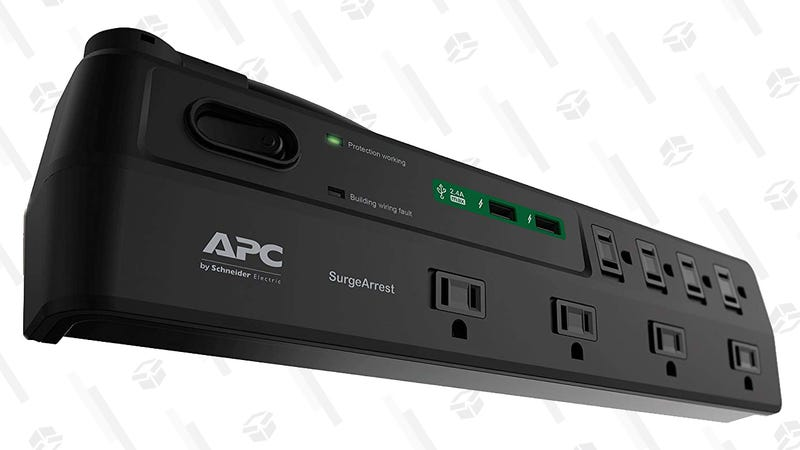 APC 8-Oultet Surge Protector with USB Ports | $18 | Amazon