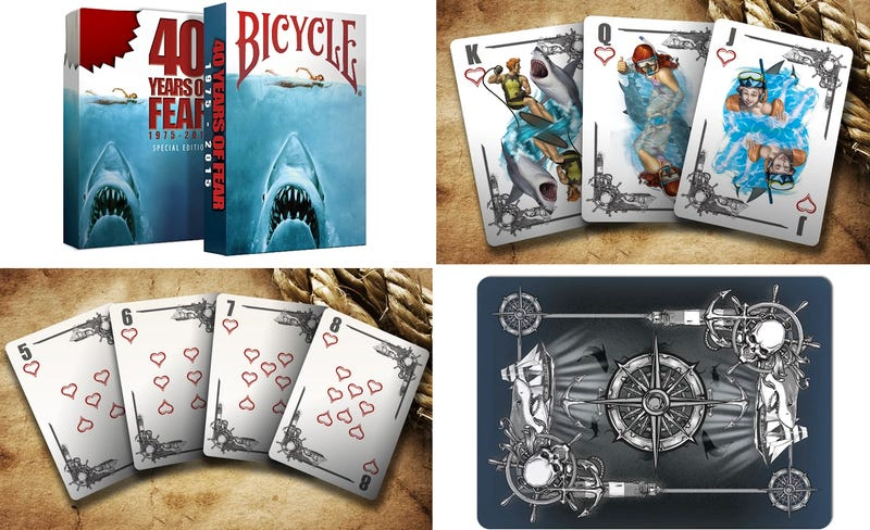 Illustration for article titled A Jaws-Themed Deck of Cards Is Surprisingly More Beautiful Than Gory