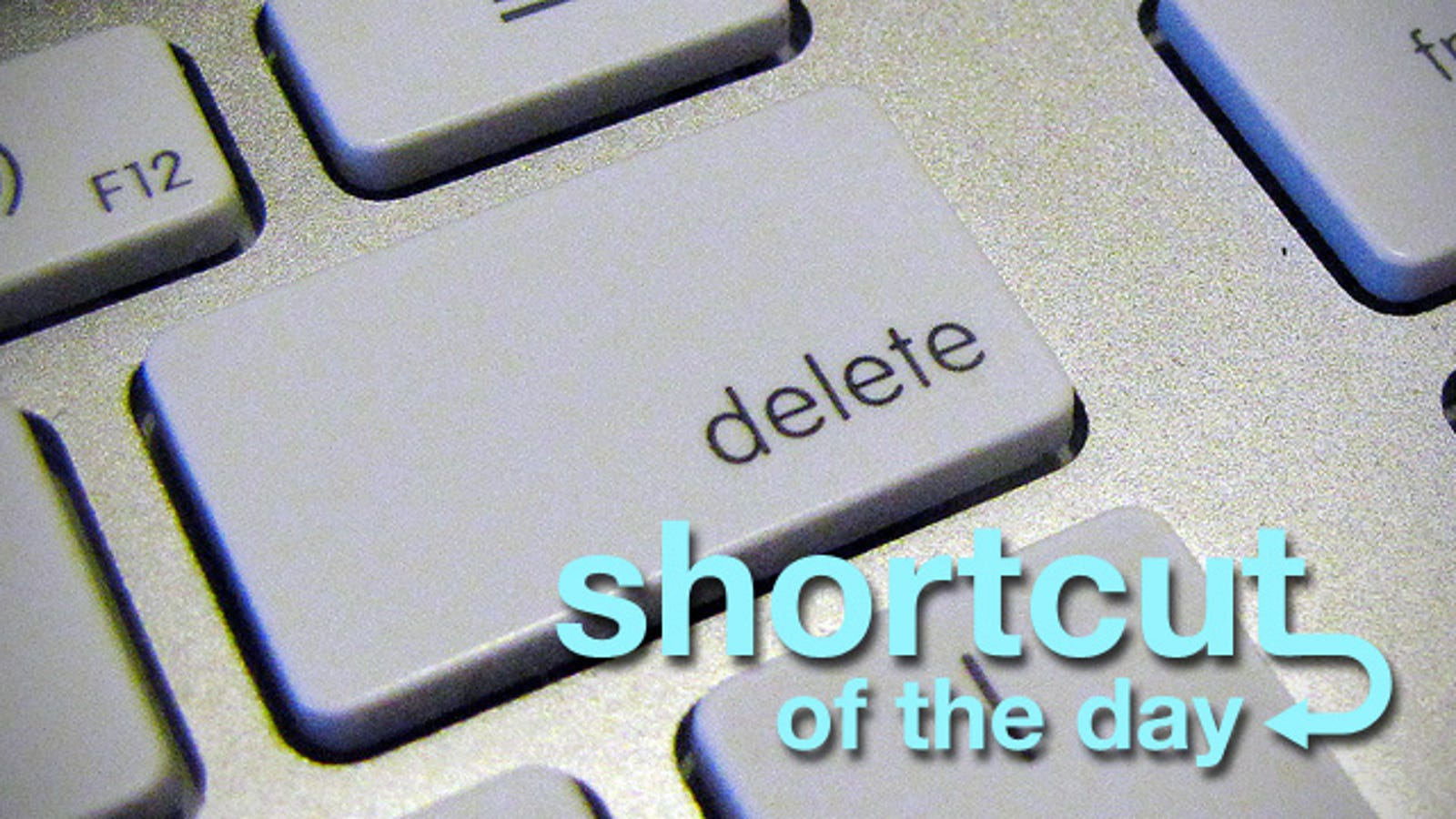 The Mac OS X Delete Key: It Goes Both Ways