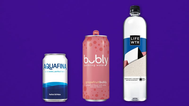 Illustration for article titled Bubly, Aquafina waters ditch plastic packaging
