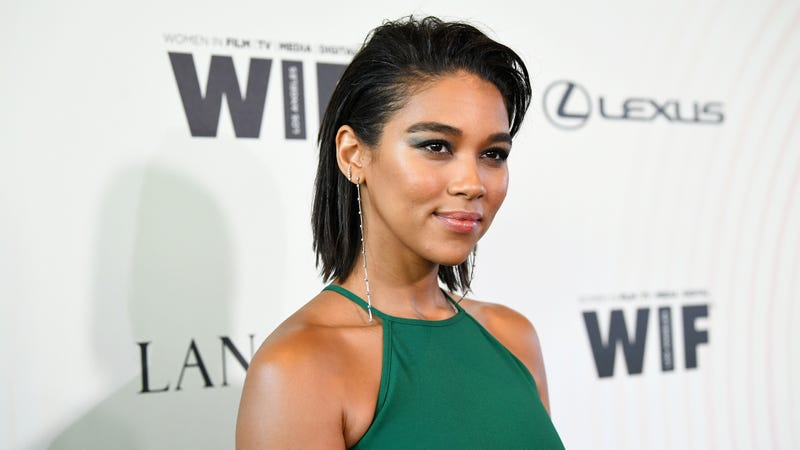 Alexandra Shipp, wearing Max Mara, attends the Women In Film 2018 Crystal + Lucy Awards presented by Max Mara, Lancôme and Lexus at The Beverly Hilton Hotel on June 13, 2018 in Beverly Hills, California.