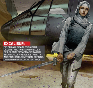 Illustration for article titled The Avengers Comic Where a Muslim Woman Became Captain Britain