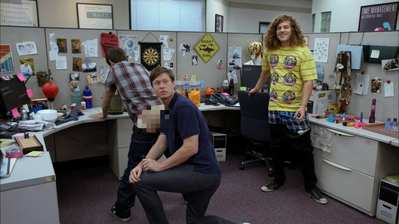 Adam DeVine (pixilated for your safety), Anders Holm, Blake Anderson (Photo: Comedy Central)