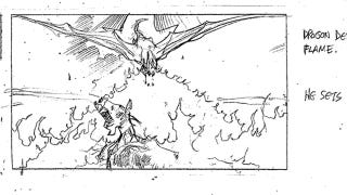 Illustration for article titled Game Of Thrones Season 4 Storyboards Include A Dragon Attack