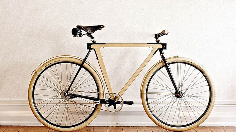 this wooden bicycle is beautifully impractical - Wooden Bike Frame