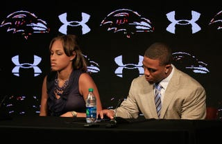 Ray Rice and Janay Palmer (Rob Carr/Getty Images)