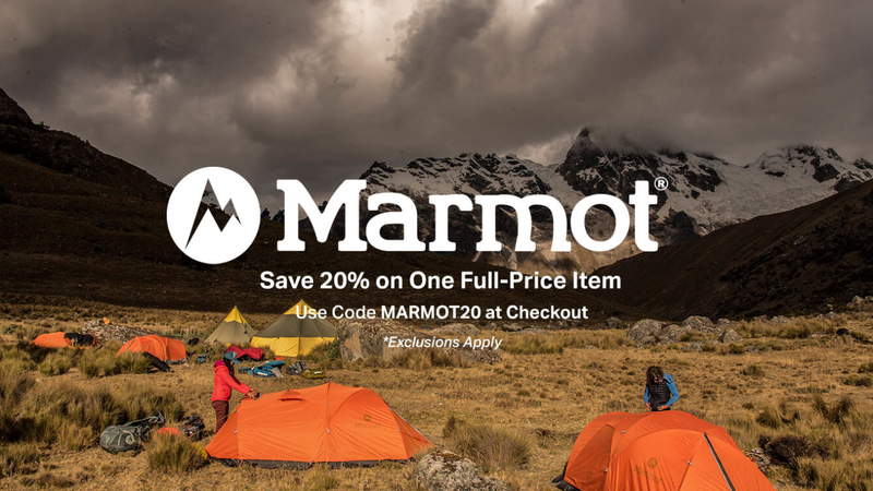 Save 20% on One Full-Priced Marmot Item | Backcountry | Promo code MARMOT20