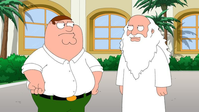 "Illustration for article titled Family Guy: ""3 Acts Of God"""