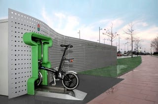Illustration for article titled Bike Vending Machine Looks Cool, Dispenses Goofy Bikes