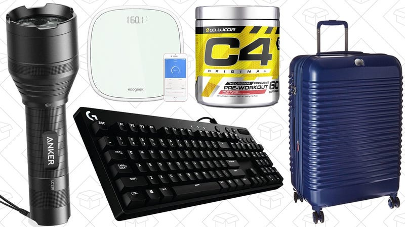 Today's Best Deals: Supplements, Luggage, Flashlights, and More