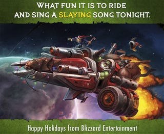 Illustration for article titled Blizzard Gets Into The Holiday Spirit, 'Craft Style