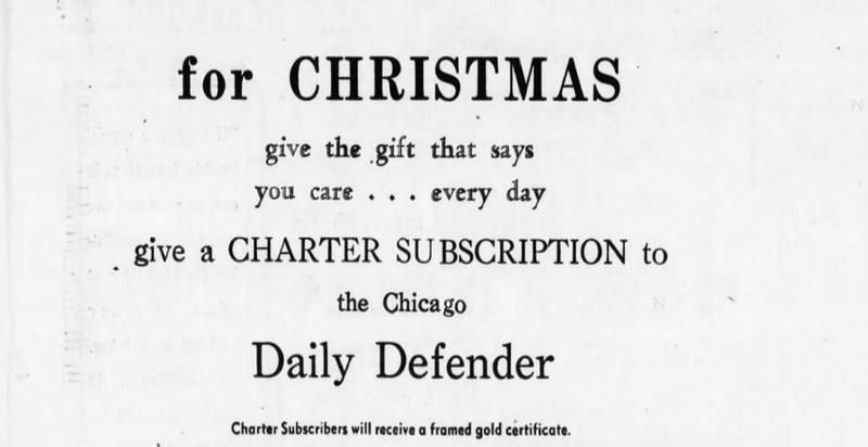 1955 ad for a subscription to the Defender