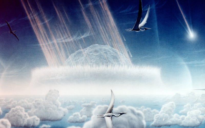 Illustration for article titled El meteorito Chicxulub que acabó con los dinosaurios también elevó la temperatura del planeta durante 100.000 años