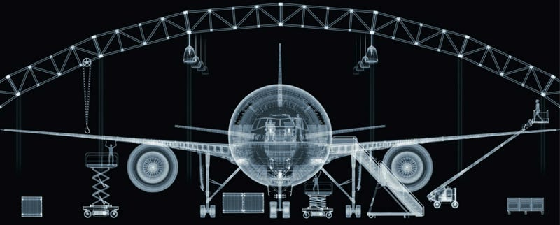Illustration for article titled A Boeing 777 As Superman Would See It