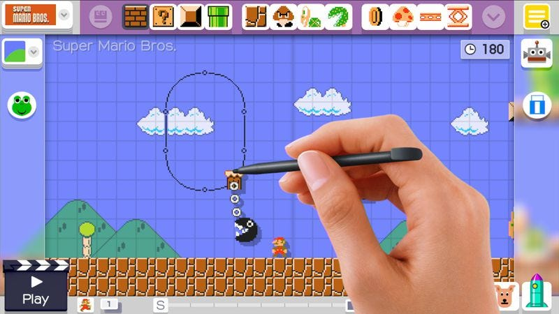Illustration for article titled Super Mario Maker wisely takes its time to coax players' creative spirits