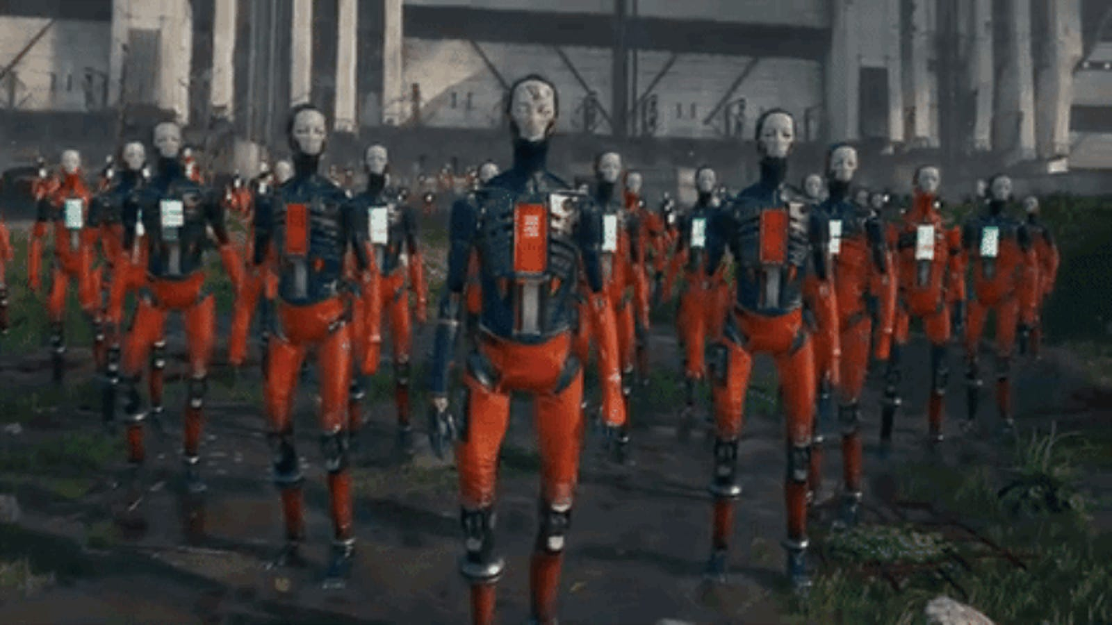 Robot Prisoners Trudge to Freedom in This Quick Hit of Scifi Eye Candy