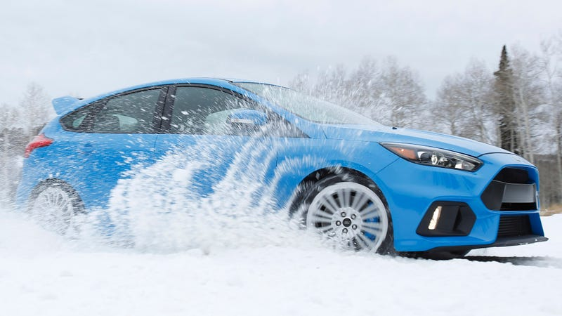You can even get the Ford Focus RS with winter tires from the factory. Photo: Ford
