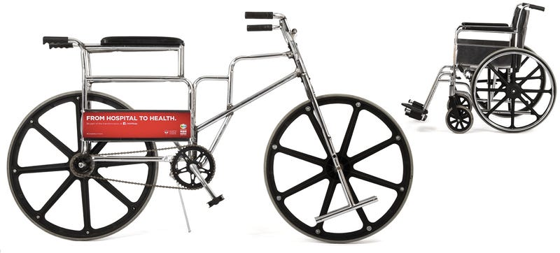 Illustration for article titled This Bike Started Life As a Wheelchair