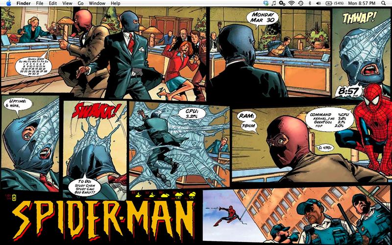 Illustration for article titled The SpiderMac Desktop