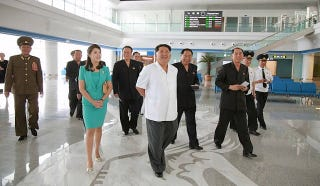 Illustration for article titled 'Look At My Fancy New Airport Terminal,' Says Noted Despot Kim Jong Un